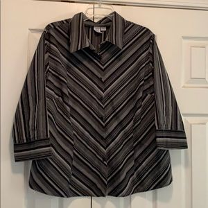 Black and gray striped blouse